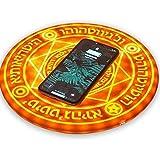 HeFuo 魔法陣充電器 ワイヤレス充電器 円形無線置 USB無線充電器 六芒星 魔術速 置くだけ充電 六芒星 魔術 LED 対応機種 iPhone 8 iPhone 8 Plus iPhoneX iPhoneXS iPhone XR iPhone XS Max 10Wなど