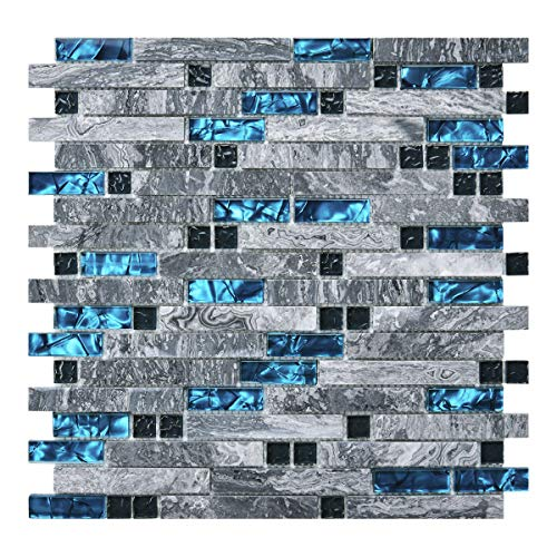 Art3d Decorative Tile for Kitchen Backsplash or Bathroom Backsplash 5 Pack