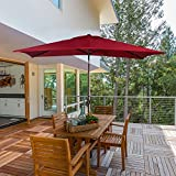 Cheap Abba Patio 6.6 by 9.8-Feet Rectangular Market Outdoor Table Patio Umbrella with Push Button Tilt and Crank (Red)