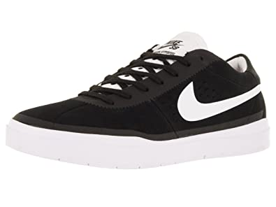 aee278072278 Nike Men s Sb Bruin Hyperfeel Black White Ankle-High Suede Skateboarding  Shoe - 8M