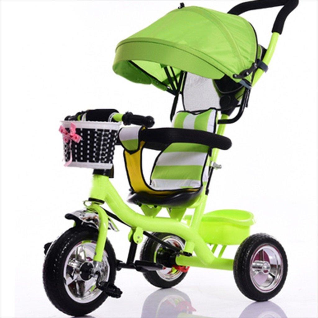 子供用屋内屋外小型三輪車自転車の男の子の自転車の自転車7ヶ月-6歳の赤ちゃんの3つのホイールトロリー、天幕、泡ホイール/後輪ダブルブレーキ (色 : 1) B07DVXFQ69 1 1