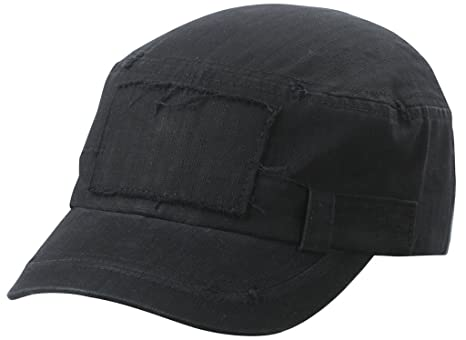 Myrtle Beach Cappello militare con disegno a spina di pesce (black ... b2626332a406
