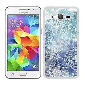 Funda carcasa para Samsung Galaxy Grand Prime estampado mandala azul borde blanco