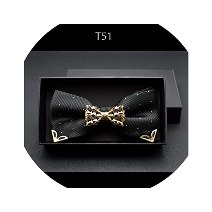 Metal Bowtie Hollow Decoration Butterfly Knot Dot For Wedding Married Groom Men