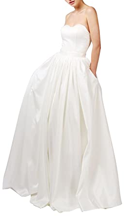 Satin Sweetheart Wedding Dress