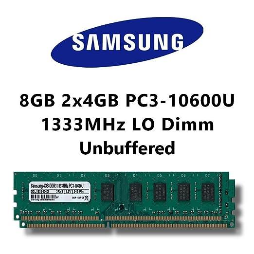 27 opinioni per Samsung 8 GB (2 x 4 GB) Dual-Channel Kit DDR3 1333 mhz (PC3 10600U) lo COMPUTER