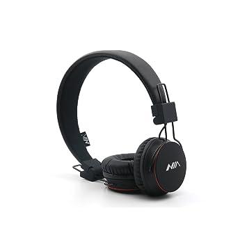 Over Ear Auriculares Bluetooth, auriculares inalámbricos de estéreo de alta fidelidad, plegable, suave