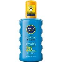 NIVEA SUN Sonnenspray, Lichtschutzfaktor 20, Sprühflasche, Schutz und Bräune, 200 ml
