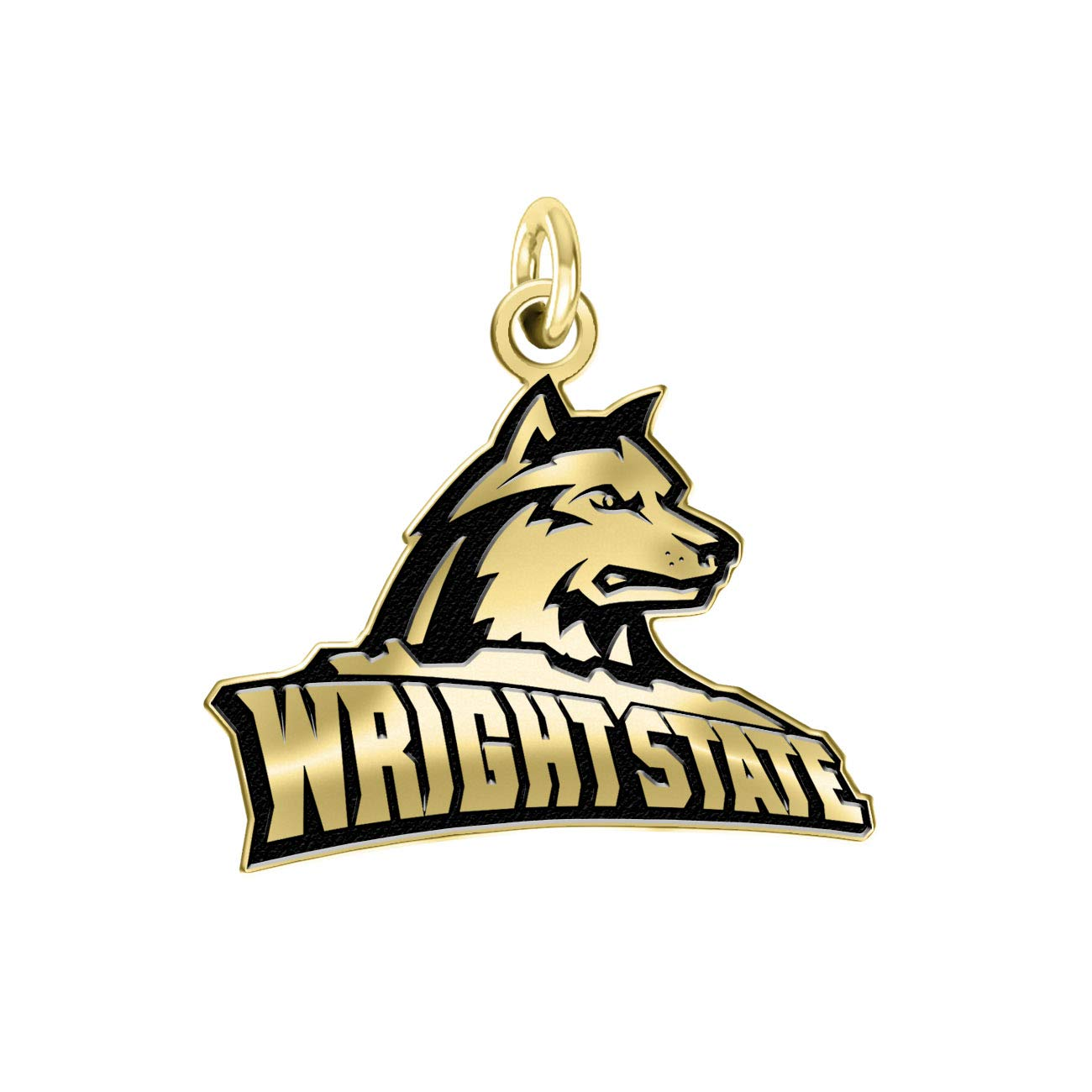 Wright State Raiders 14k Yellow Gold Cut Out Logo College Charm