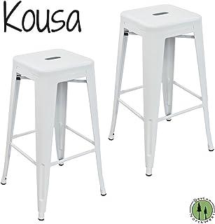Tabouret 30-inch White Bar Stools (Set of 2)  sc 1 st  Amazon.com & Amazon.com: Tabouret 30-inch Metal Barstools (Set of 2).: Kitchen ... islam-shia.org