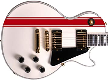 Stripes II Sticker Vinyl Body Guitar & Bass Pegatinas Vinilo Para Guitarra (rojo)