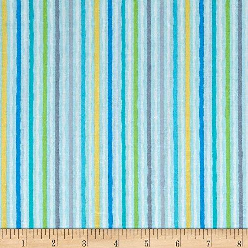 (Kanvas Studio 0567743 Jungle Jamboree Wavy Stripe Blue Fabric by The Yard)