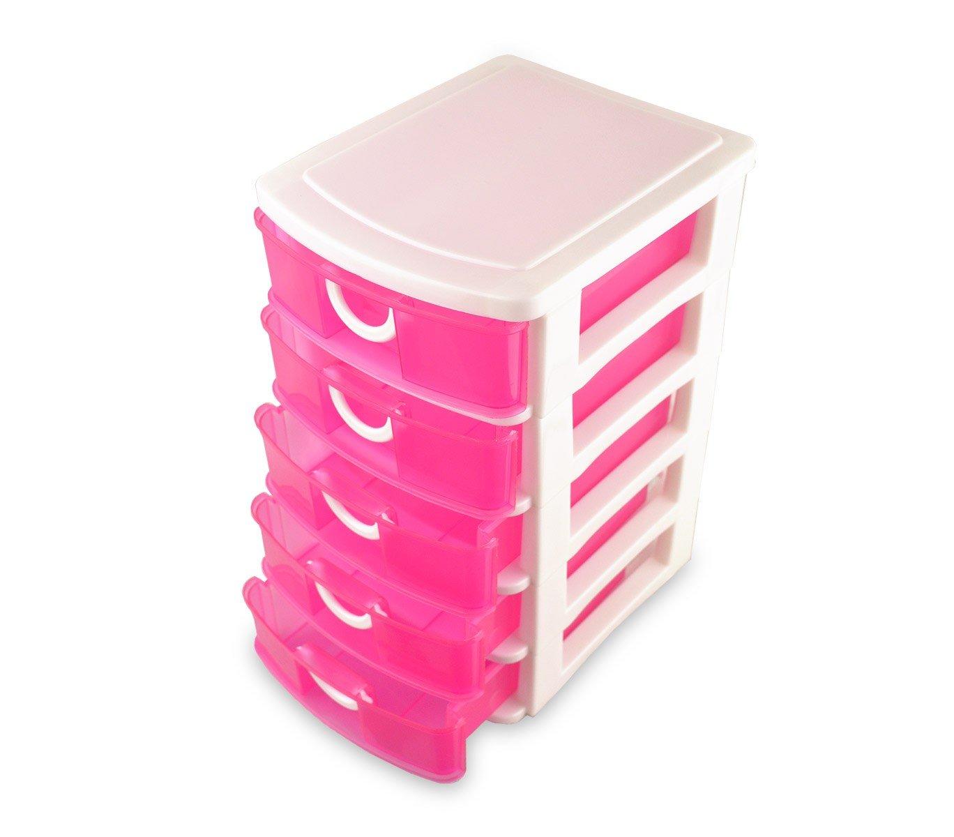 391570 Cajón con 5 pisos de plástico rígido COLORBOX de colores ...
