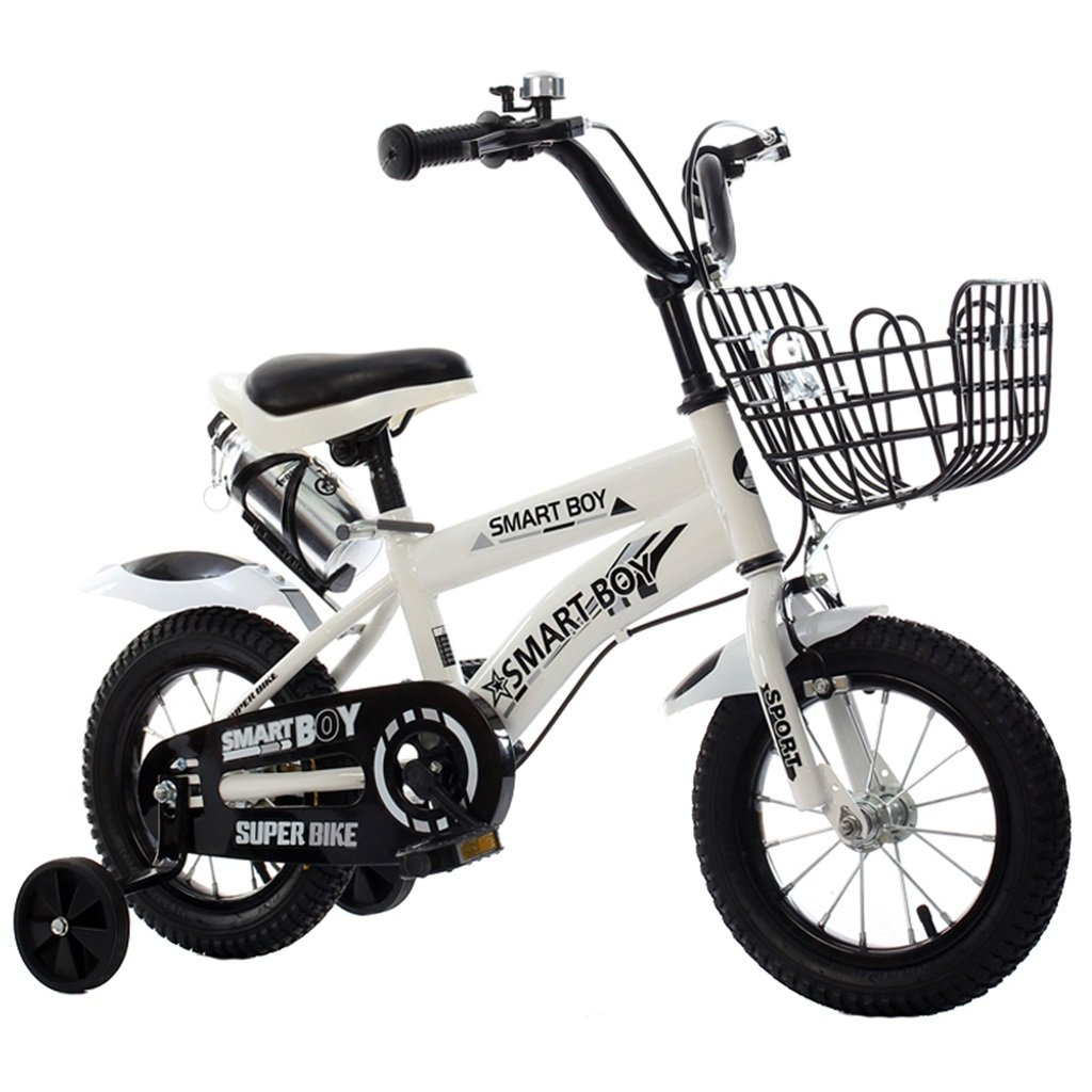 KANGR-子ども用自転車 子供用自転車アウトドアマウンテンバイク2-3-6-8ボーイズとガールズ子供用玩具調節可能ハンドルバー/トレーニングホイール付きサドルウォーターボトルとホルダー-12 / 14/16/18インチ ( 色 : 白 , サイズ さいず : 14 inch ) B07BTYCC4X 14 inch|白 白 14 inch