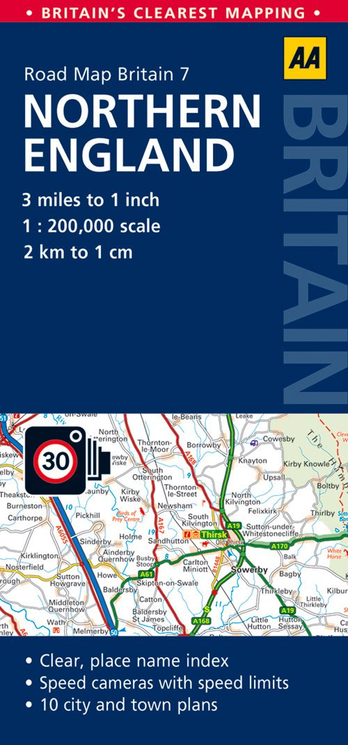 Road Map Northern England Aa Road Map Britain Series 7 Amazon Co Uk Aa Publishing 9780749577162 Books