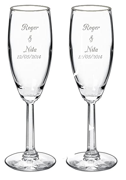 amazon com gifts infinity 2 engraved wedding flutes personalized