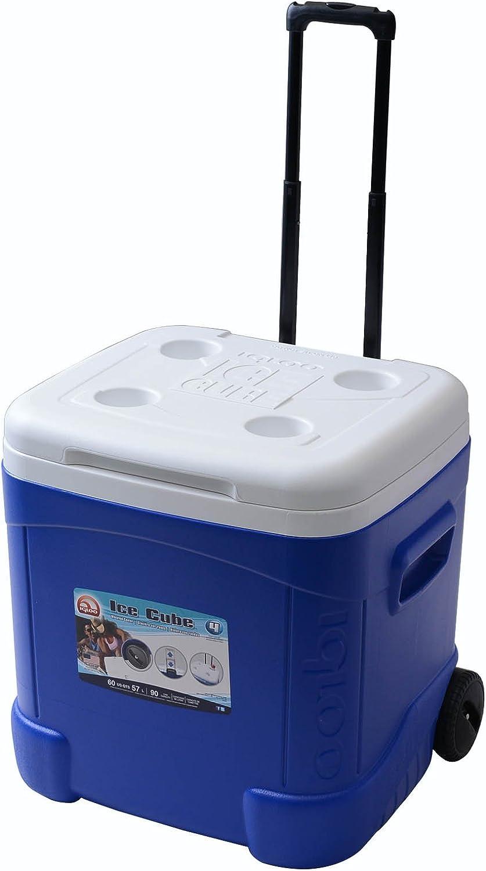 Igloo Ice Cube Roller Cooler 60-Quart, Ocean Blue