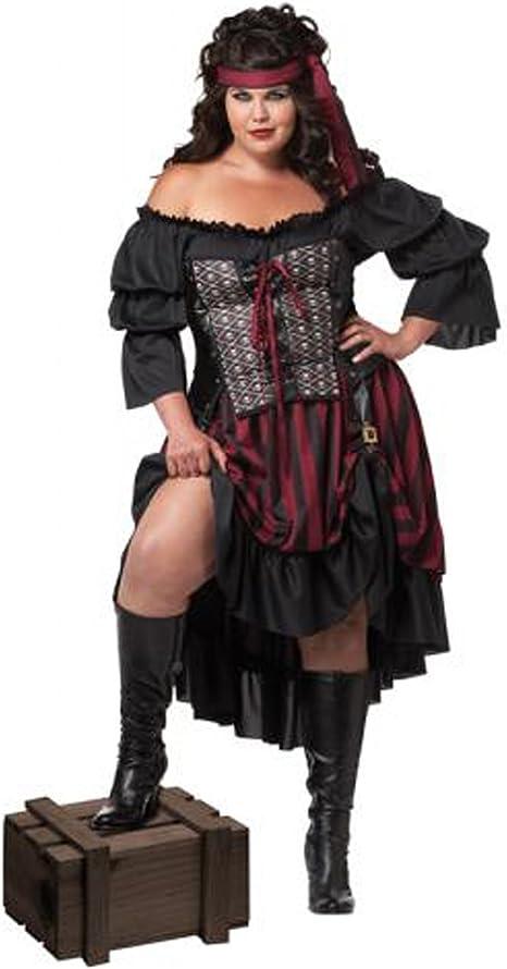 Generique - Disfraz Pirata Negro Talla Grande Mujer XXXL: Amazon ...
