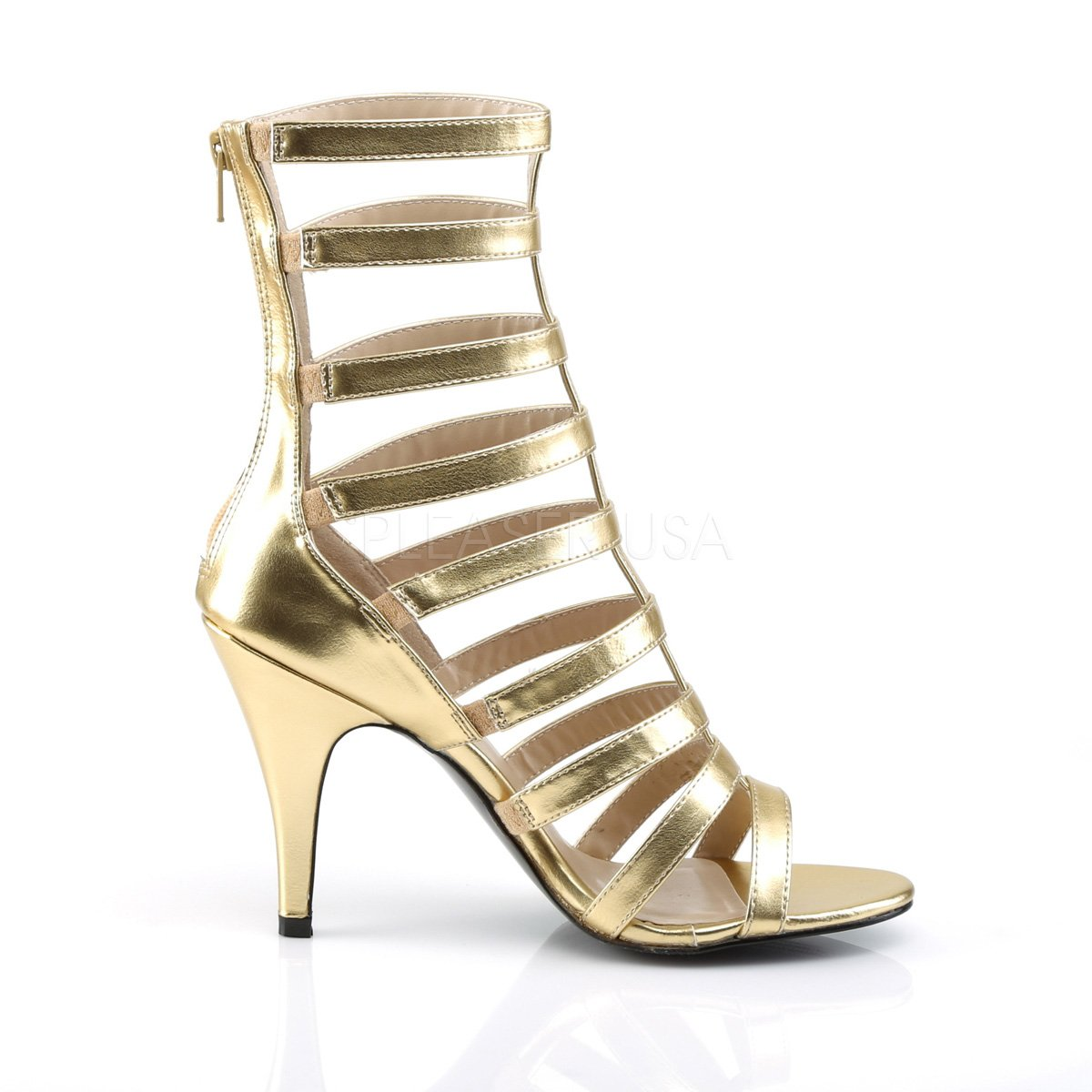 Higher-Heels Higher-Heels Higher-Heels Rosa Label Big Größe Riemchen Stiefelies Dream-438 mattGold 9b27fe