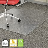 Lorell 45 by 53-Inch Wide Chair Mat, 25 by 12-Inch Lip, Clear