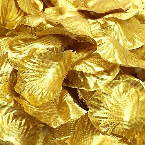1000 Pcs Silk Rose Petals Fake Petals for Wedding Decoration Festive Supplies (Gold)