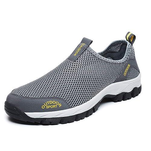 Zapatillas Hombres De Deporte Sin Cordones De Montañismo Deporte Running Zapatos Talla 39-48 para Correr Gimnasio Sneakers Deportivas Padel ...