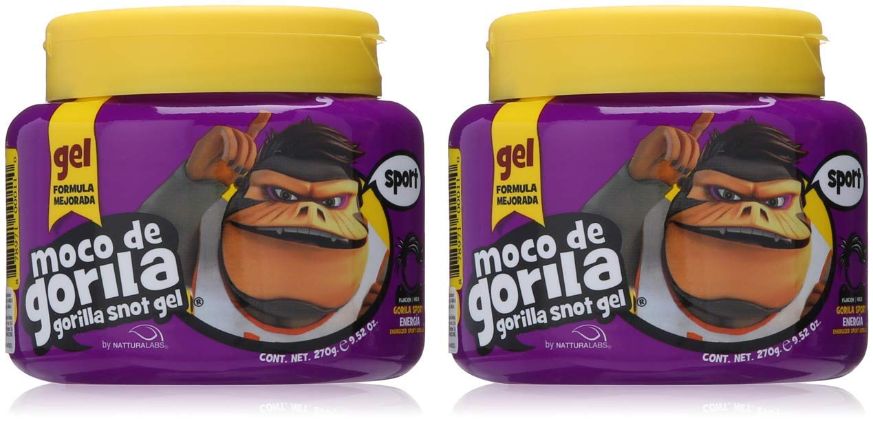 Moco De Gorila Sport Hair Gel | Energizing Hair Styling Gel for Extreme Long Lasting Hold, Gorilla Snot Gel is Ultimate Hair Gel to Energize any Hairstyle; 9.52 Ounce Jar (2 PACK)