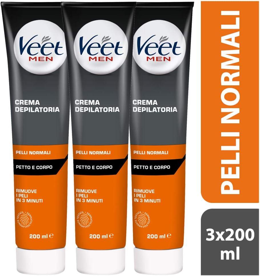 Veet for Men Hair Removal Gel Crema, 200 ml: Amazon.es: Salud y cuidado personal