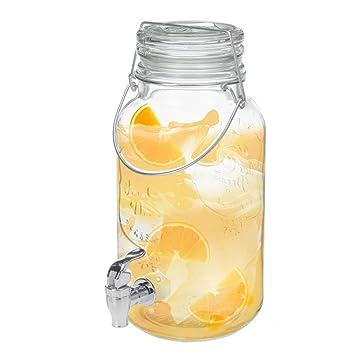 Jarra de jarra de bebidas dispensador de cóctel cristal cerveza Punch agua zumo de grifo (