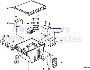Amazon.com: BMW Genuine Motorcycle Rear Wheel Cover Fuse Box Suspension R65  R80 R80RT R100RS R100RT K1 K100RS K1100LT K1100RS R1200GS R1200GS Adventure  K75 K75C K75RT K75S K100 K100LT K100RS K100RT: Automotive   Bmw K1100lt Fuse Box      Amazon.com