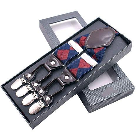 bellissimo stile selezione speciale di scelta migliore SUPOOGO Bretelle Cinturino da Uomo Clip Sei Clip Forte ...