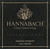 Hannabach Strings for classic guitar Series 728 Medium tension Custom Made 3er Set discant carbon