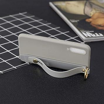 Phone Estuche de TPU de Color sólido a Prueba de Golpes con Pulsera for Xiaomi Mi 9 SE (café) Duradero y fácil de Transportar (Color : Grey): Amazon.es: Electrónica
