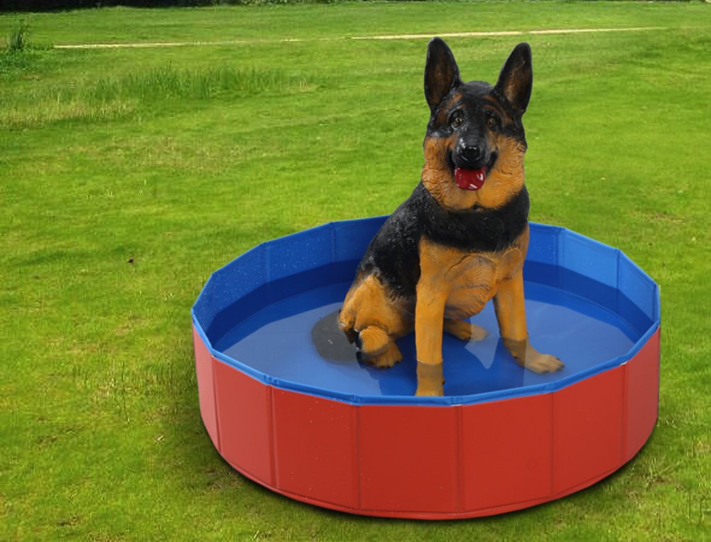 Fuloon Foldable Dog Paddling Pool Puppy Cats Swimming Bathing Tub Pet Children Kid Ball Water Ponds by Fuloon (Image #3)