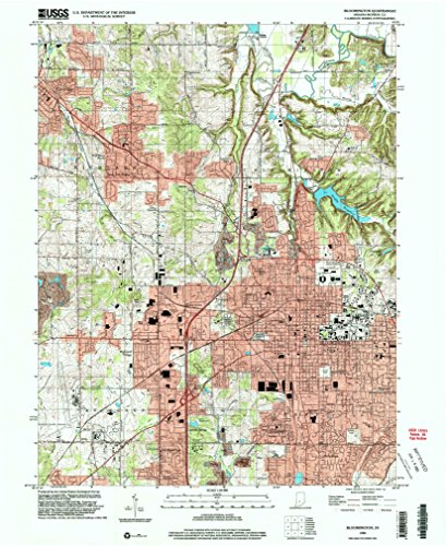 Bloomington IN topo map, 1:24000 scale, 7.5 X 7.5 Minute, Historical, 1998, updated 2003, 26.9 x 22 IN - - Highlands In Arlington The