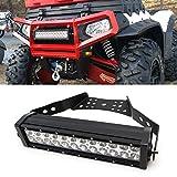 """iJDMTOY 14"""" 72W High Power LED Light Bar w/ Universal Handlebar, Front Grill or Hood Mounting Bracket For ATV UTV"""