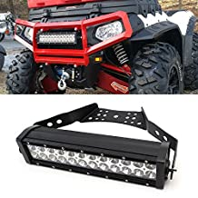 "iJDMTOY 14"" 72W High Power LED Light Bar w/ Universal Handlebar, Front Grill or Hood Mounting Bracket For ATV UTV"