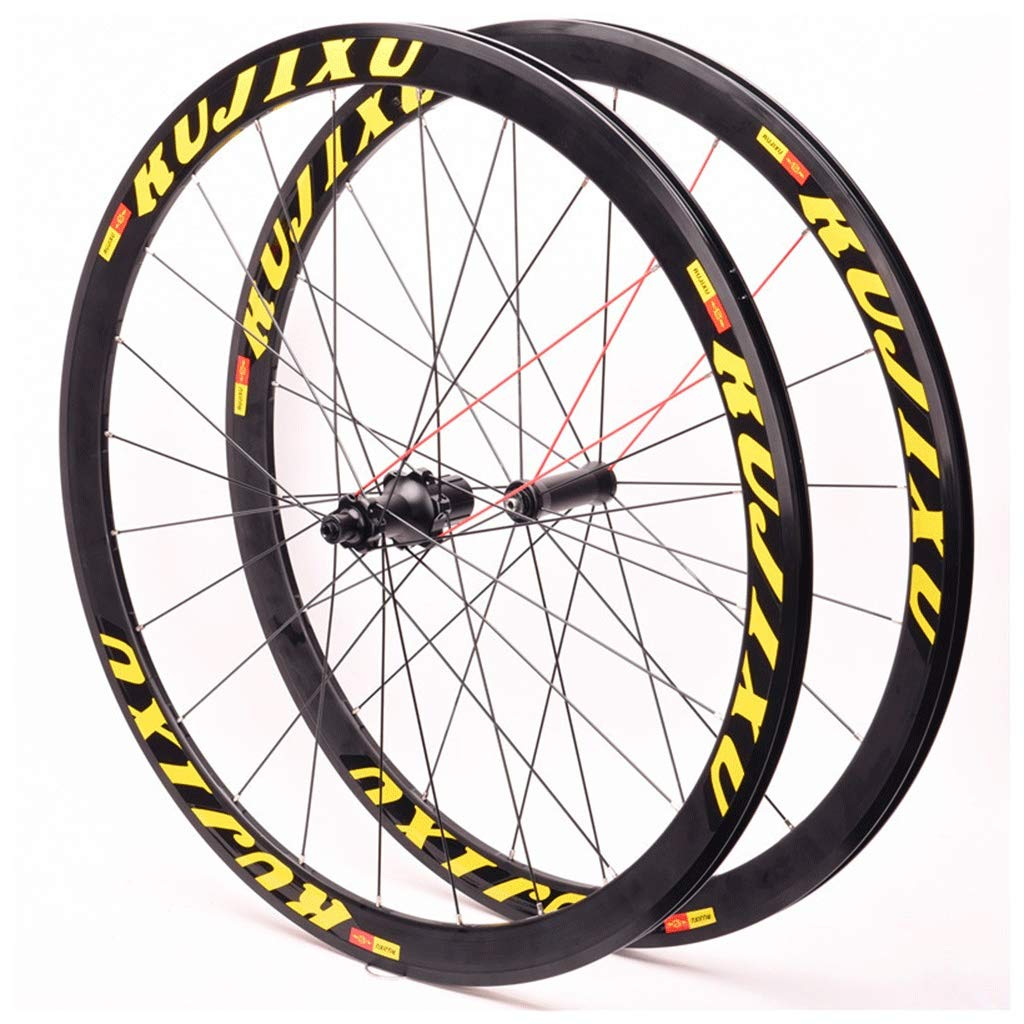 Juego Ruedas Bicicleta 700C para Bicicleta Carretera Llanta Doble ...