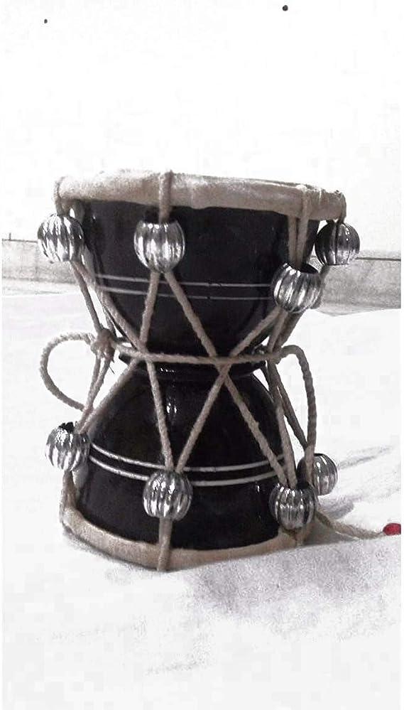 DAMRU PERCUSSION INDIAN MUSIC INSTRUMENT DAMRU FOLK BHAJAN KIRTAN POOJA