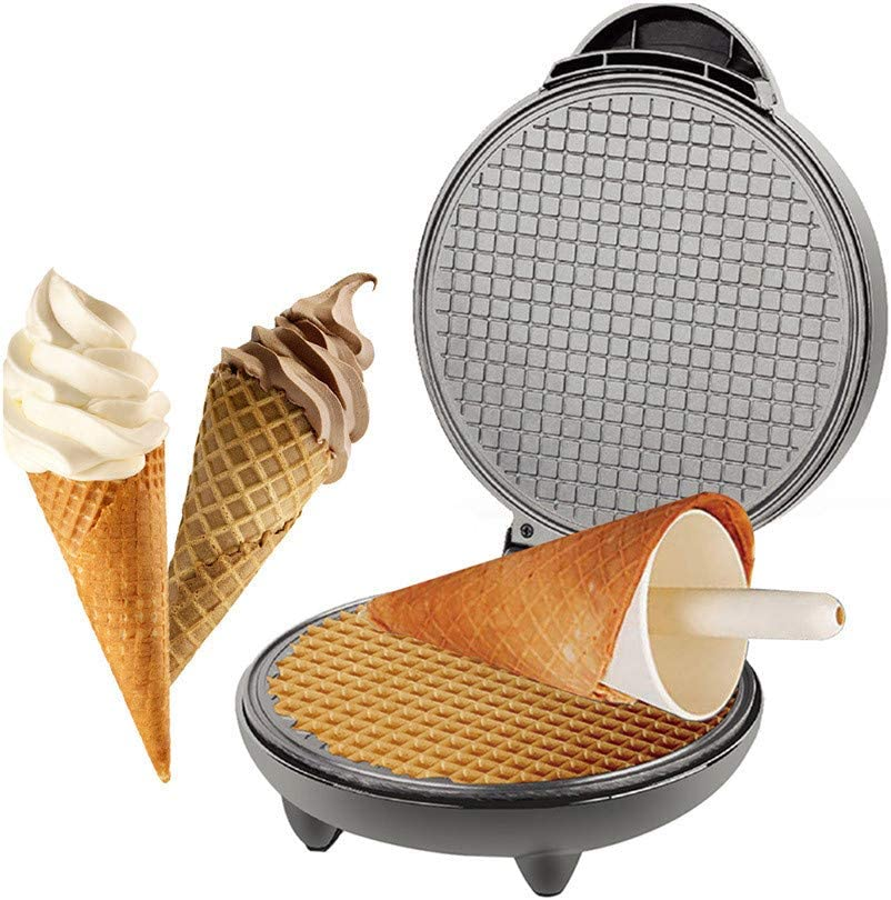 PBQWER Electric Waffle Cone Maker, Ice Cream Cone Machine, Ice Cream Maker, Egg Rolls Nonstick Dessert Baking Pan Kitchen Cooking Gift