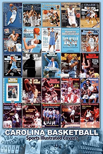 North Carolina Tar Heels Sports Illustrated Poster Collage Dean Smith Michael Jordan UNC Tyler Hansbrough Tywon Lawson James Worthy