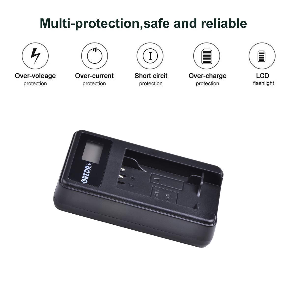 2 Paquets NB-13L 1500mAh Batterie de Rechange with USB Chargeur Compatible for Canon NB-13L Canon PowerShot G5X G7X G9X G7 X Mark II G9X Mark II G1 X Mark III SX620 HS SX720 HS SX730 HS
