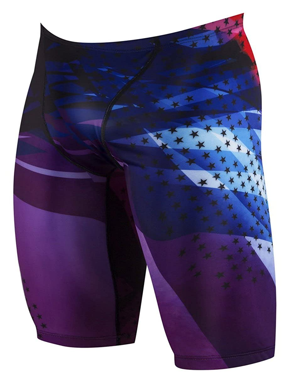 Betusline Mens Print Jammer Swimsuit
