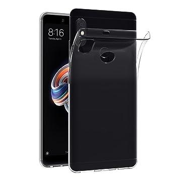 ivoler Funda Carcasa Gel Transparente para Xiaomi Redmi Note 5 / Xiaomi Redmi Note 5 Pro, Ultra Fina 0,33mm, Silicona TPU de Alta Resistencia y ...