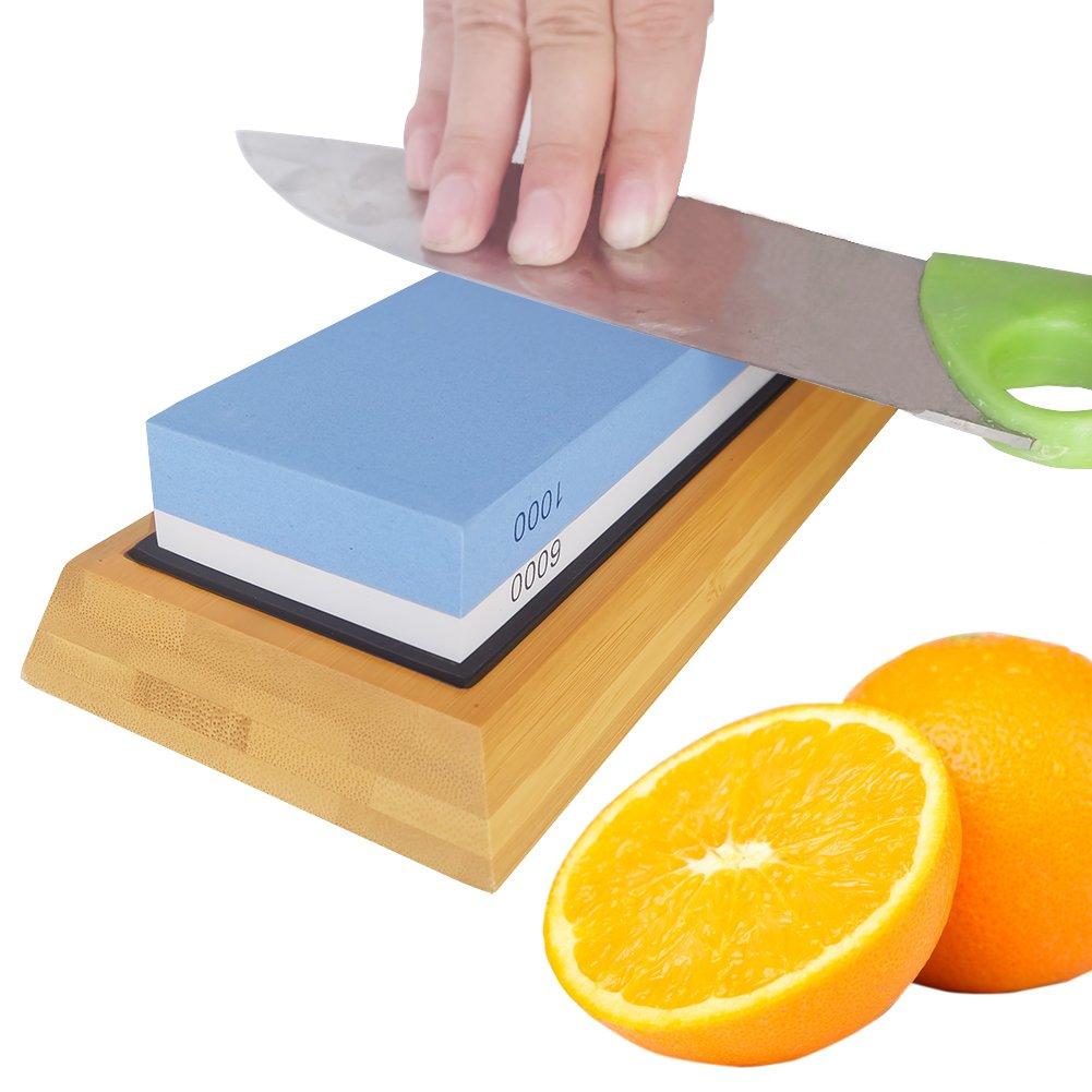amazon com premium knife sharpening stone kit 2 side 1000 6000
