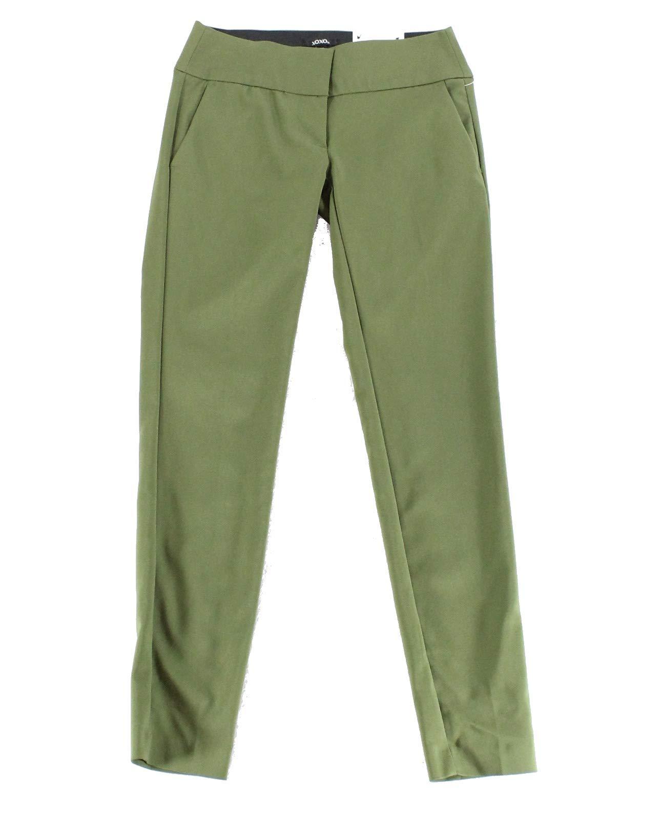 XOXO Dark Women's 7/8 Stretch Slim Skinny Ankle Pants Green 8 by XOXO