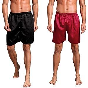 White Plain Satin Boxer Shorts   Small