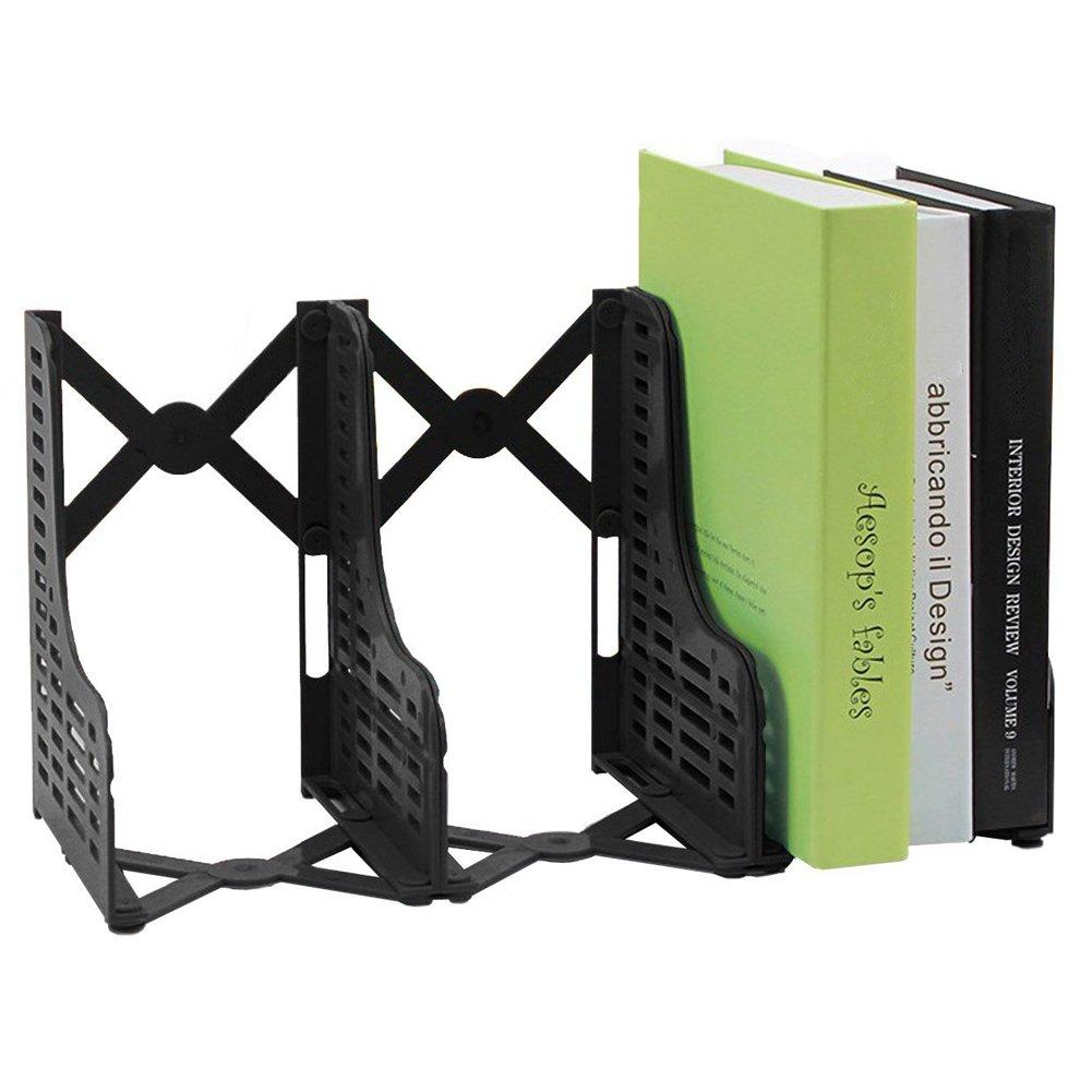 Loghot Adjustable 3 Slots Plastic Magazine/File Holders Desktop Organizer for Organization Office & Home Desktop (Black)