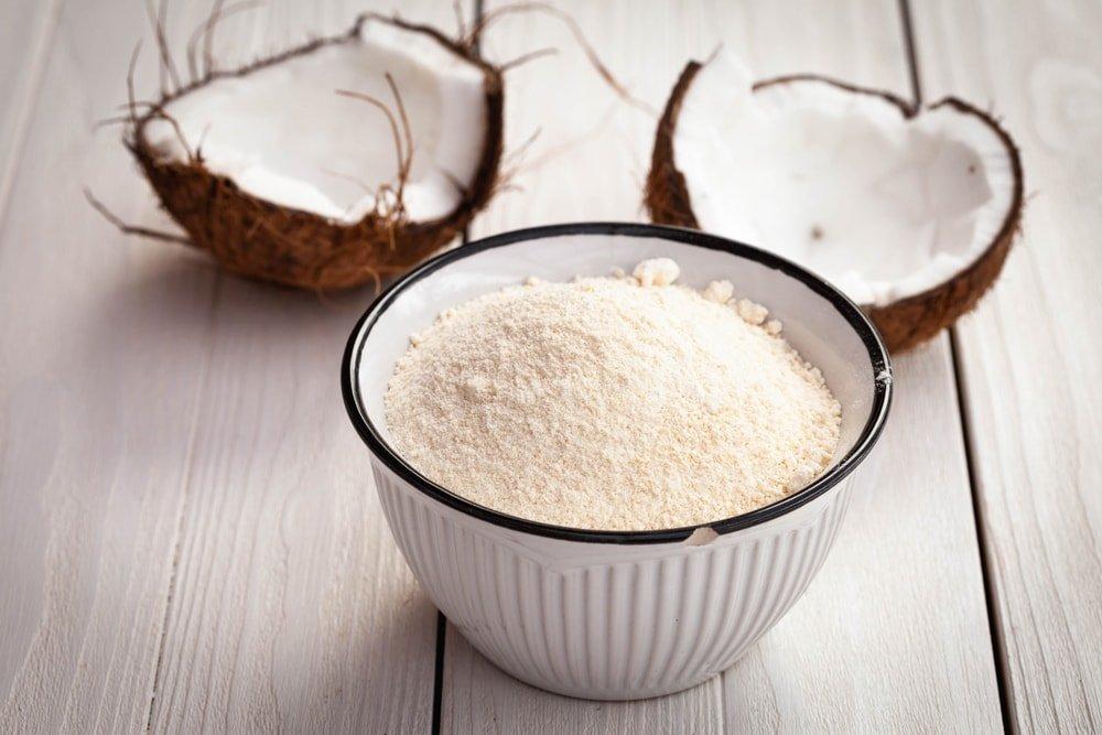Organic Coconut Flour, 8 Ounces- Non-GMO, Kosher, Raw, Vegan, Unsweetened, Unrefined, Unsulfured Fine Powder, Bulk, Great for Baking