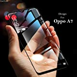 CaseTrade 11D Anti Scratch Curved 9H Full Screen Tempered Glass Screen Protector for Oppo A7- (Black)